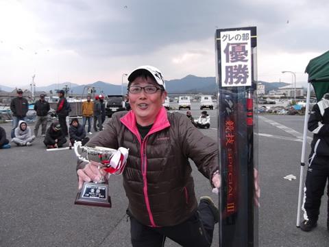 第27回CAST杯磯釣り大会を制したの光市の守田洋さん