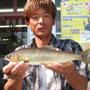 球磨川で31cmの尺鮎!