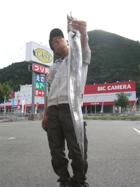 上関で112cmの太刀魚