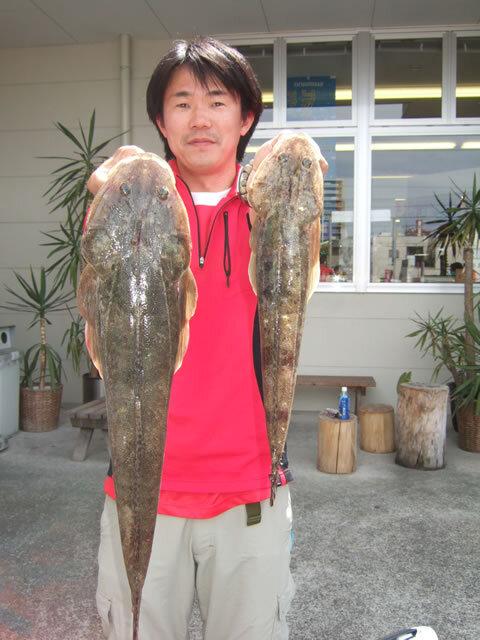 宇部沖・マゴチ 58cm