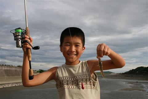旬の釣りモノ(椹野川河口でハゼ)