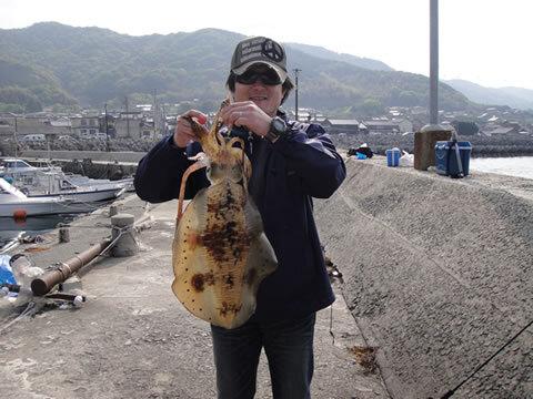 宇賀漁港 アオリイカ 胴長 41cm 2550g